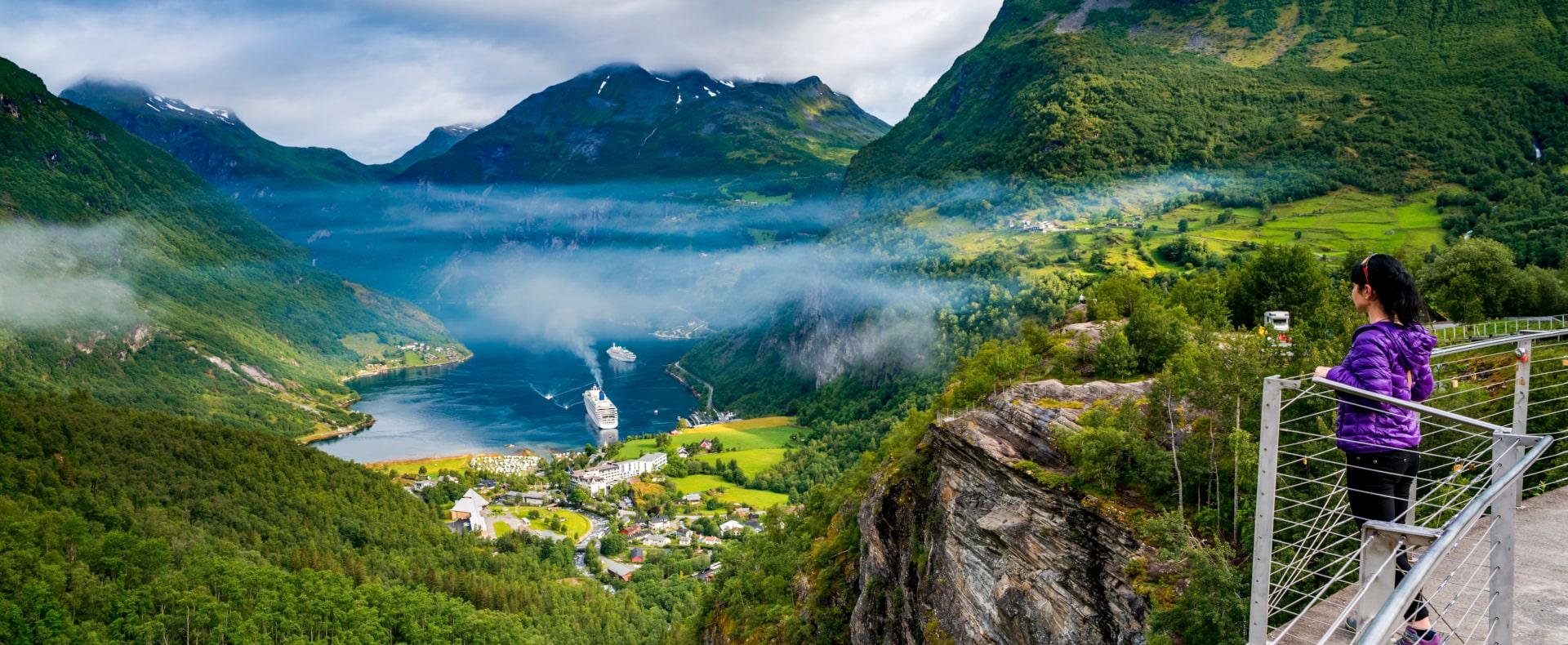 Geirangerfjord village, Norway